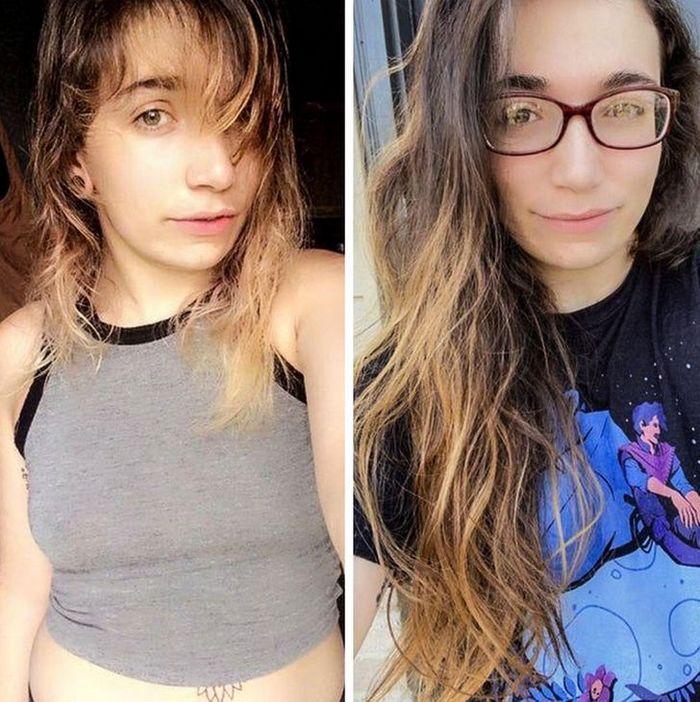 28 pessoas que mudaram radicalmente depois que deixaram o cabelo crescer 24