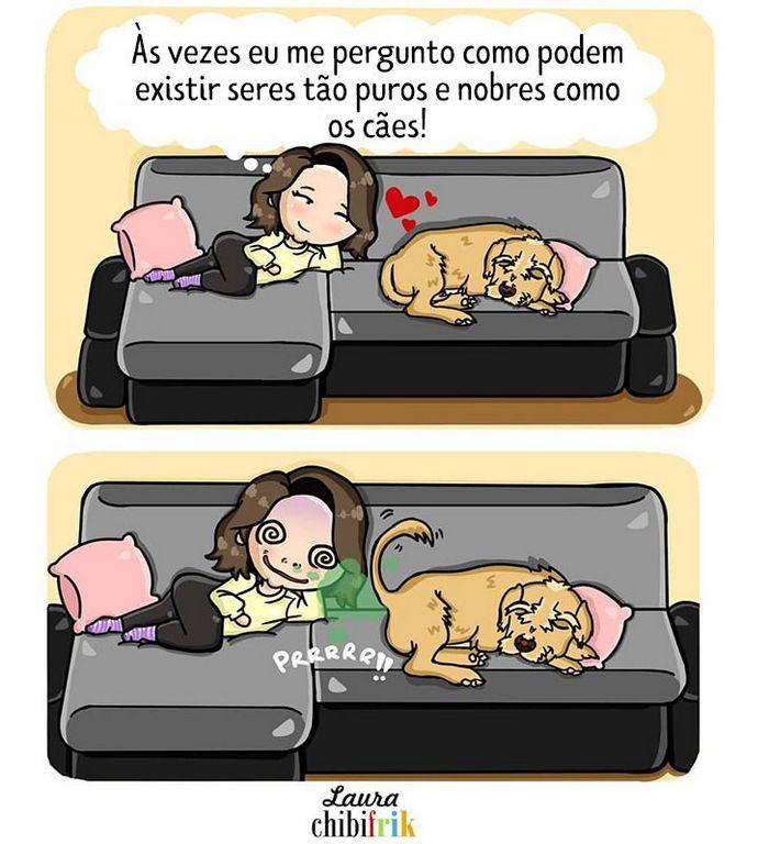 15 quadrinhos mostram como é viver com seu parceiro e seu cachorro 13