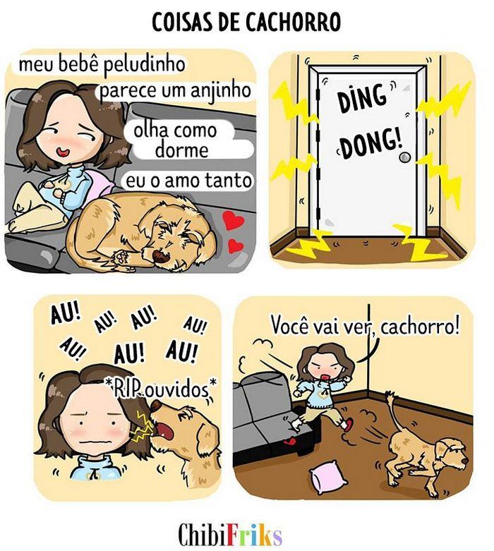 15 quadrinhos mostram como é viver com seu parceiro e seu cachorro 15