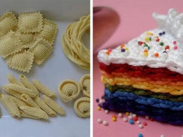 Artista cria comida de crochê com aparência deliciosa e você provavelmente vai querer comê-la (34 fotos) 34