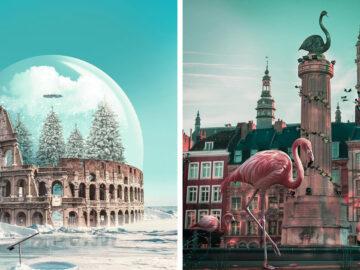 Artista digital cria imagens mágicas e surreais de arquitetura e fragmentos da natureza (42 fotos) 16