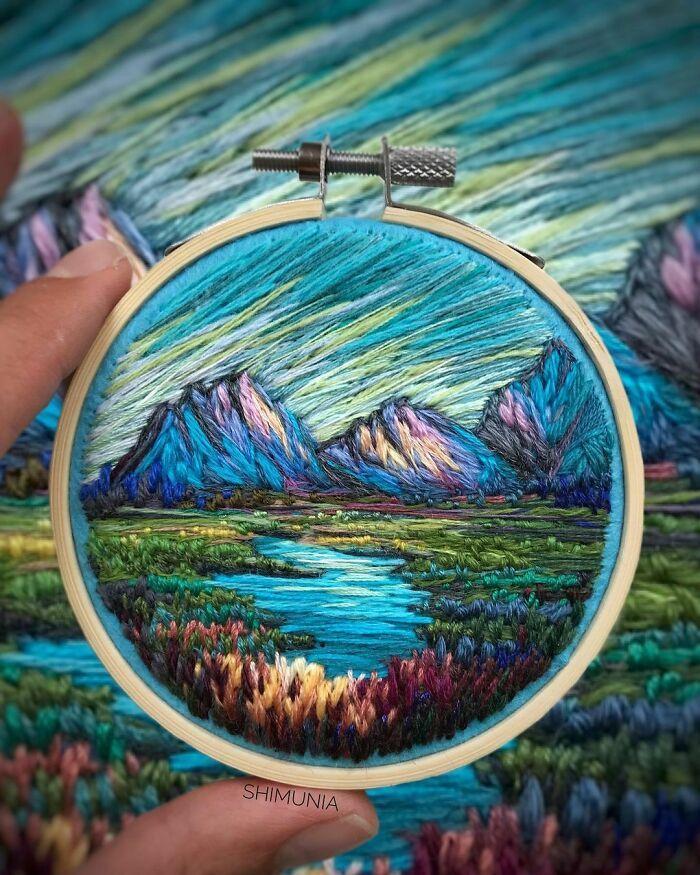 Artista usa bordado para criar incríveis cenas de paisagem (42 fotos) 4