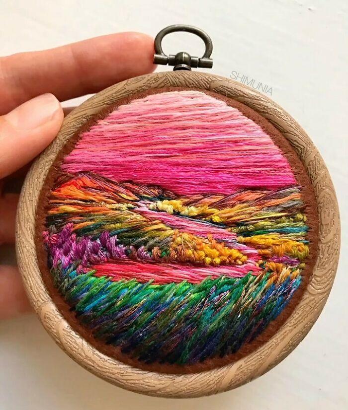 Artista usa bordado para criar incríveis cenas de paisagem (42 fotos) 8