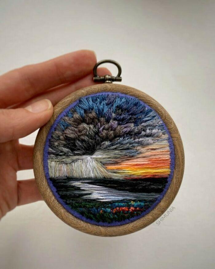 Artista usa bordado para criar incríveis cenas de paisagem (42 fotos) 9