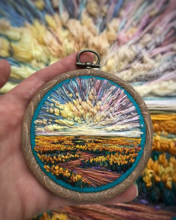 Artista usa bordado para criar incríveis cenas de paisagem (42 fotos) 17