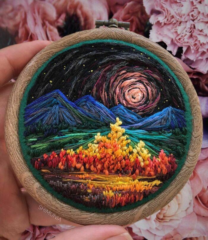 Artista usa bordado para criar incríveis cenas de paisagem (42 fotos) 22