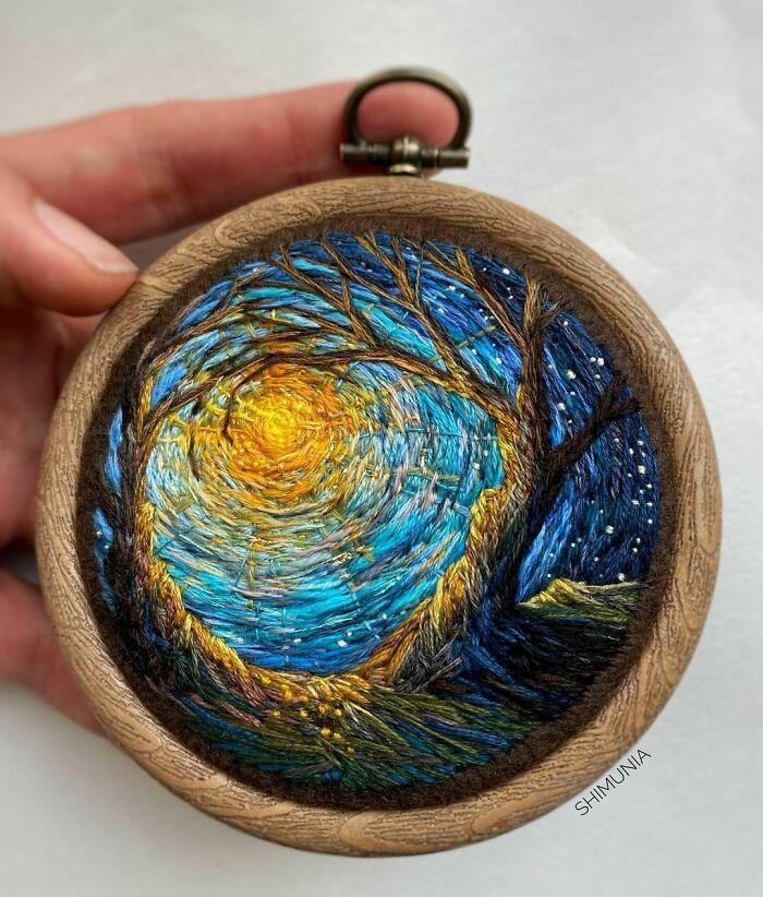 Artista usa bordado para criar incríveis cenas de paisagem (42 fotos) 24