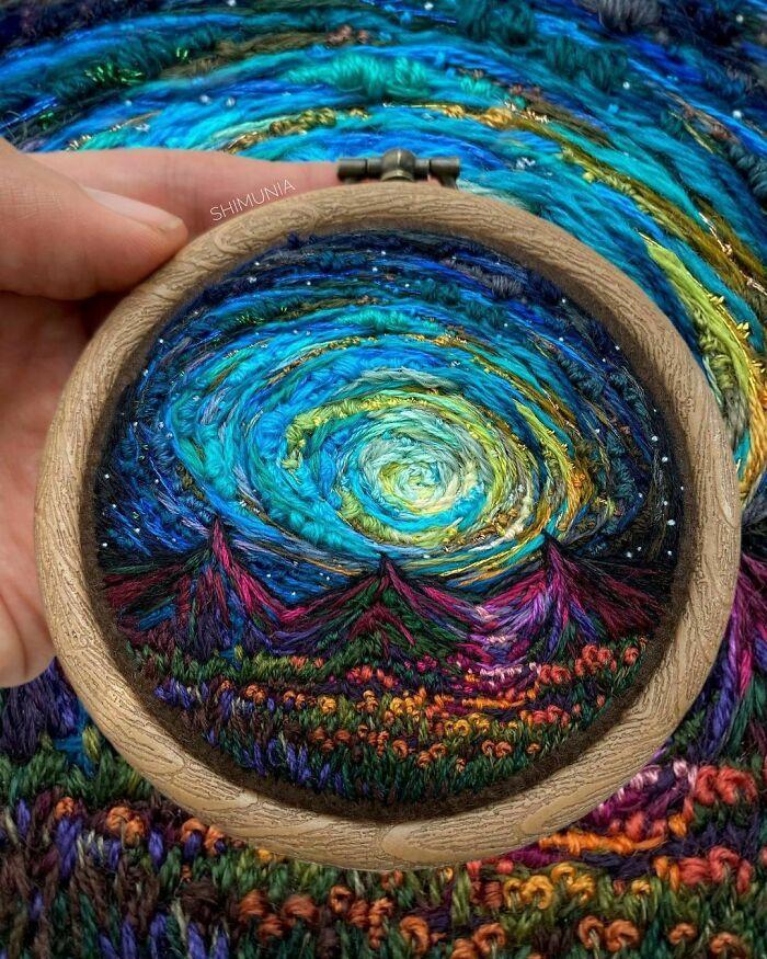 Artista usa bordado para criar incríveis cenas de paisagem (42 fotos) 25