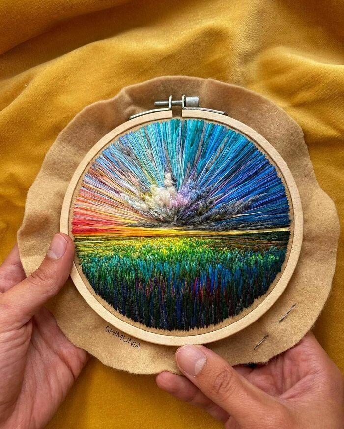 Artista usa bordado para criar incríveis cenas de paisagem (42 fotos) 26