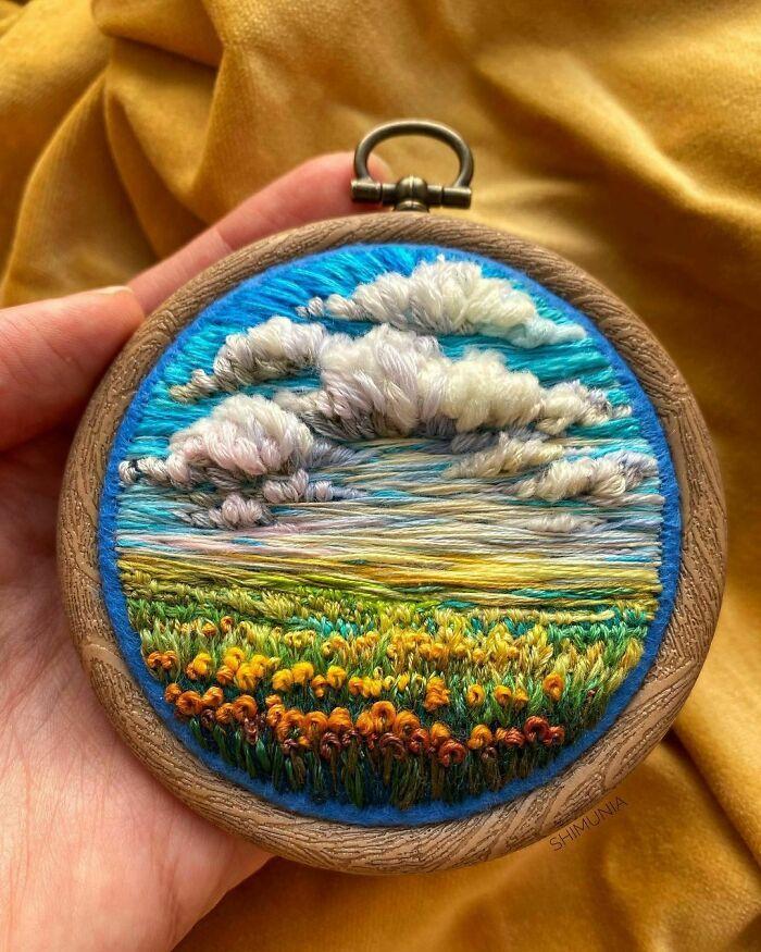 Artista usa bordado para criar incríveis cenas de paisagem (42 fotos) 31