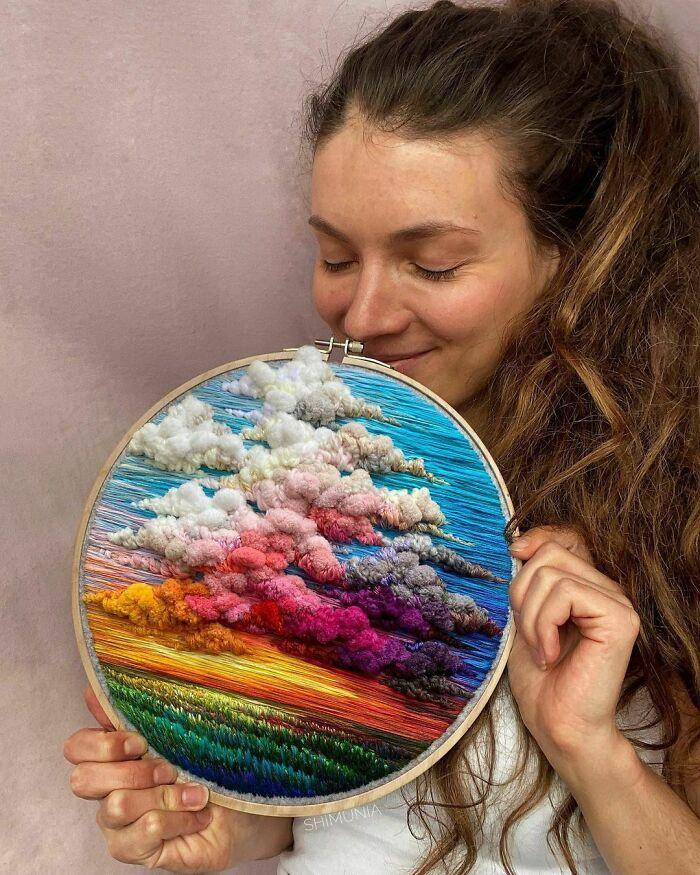 Artista usa bordado para criar incríveis cenas de paisagem (42 fotos) 34
