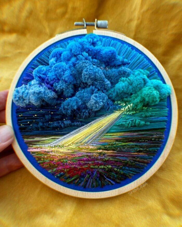 Artista usa bordado para criar incríveis cenas de paisagem (42 fotos) 35