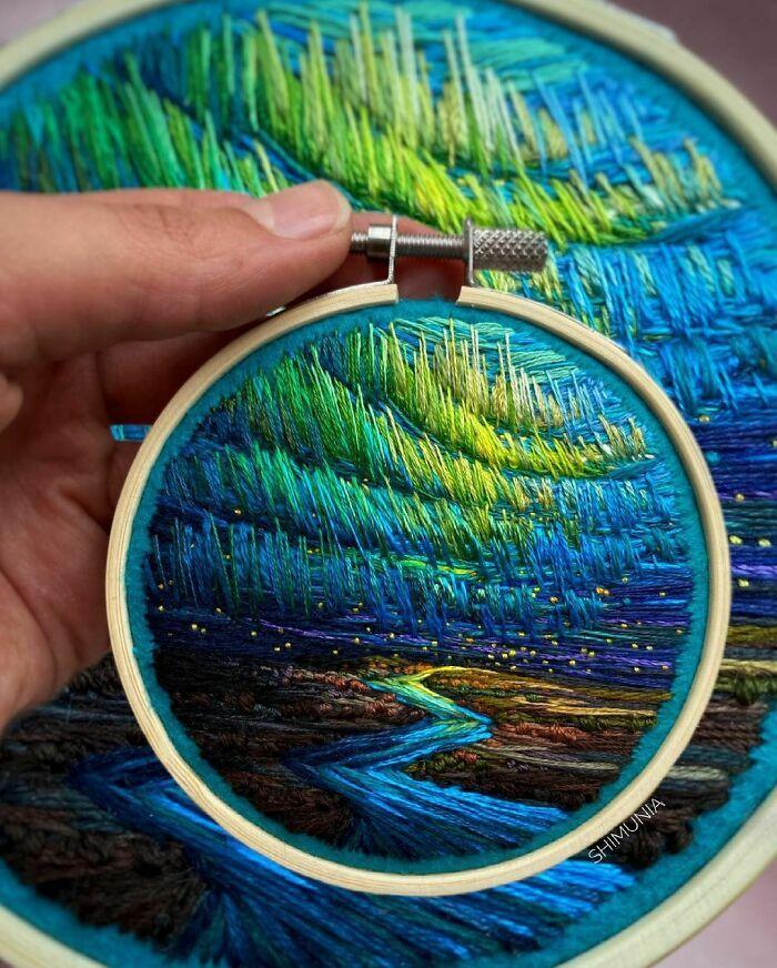 Artista usa bordado para criar incríveis cenas de paisagem (42 fotos) 40