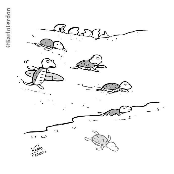 Este artista faz quadrinhos humorísticos sem diálogo (30 fotos) 8