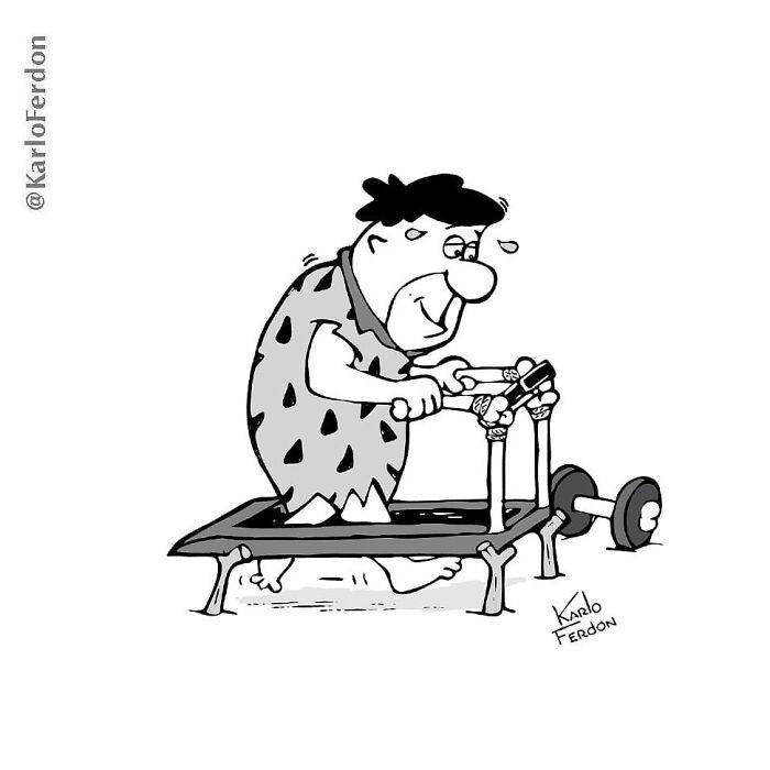 Este artista faz quadrinhos humorísticos sem diálogo (30 fotos) 9