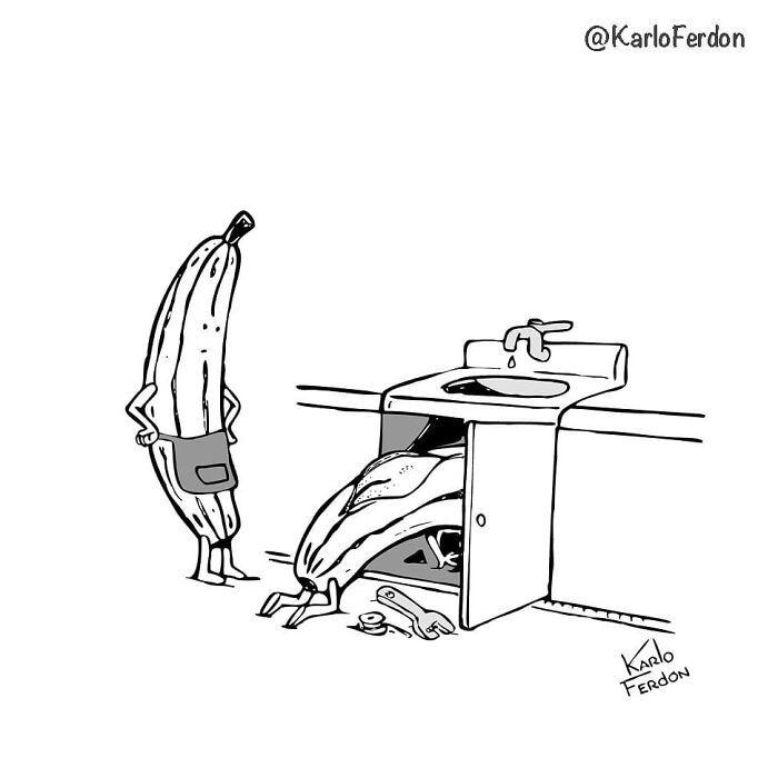 Este artista faz quadrinhos humorísticos sem diálogo (30 fotos) 11