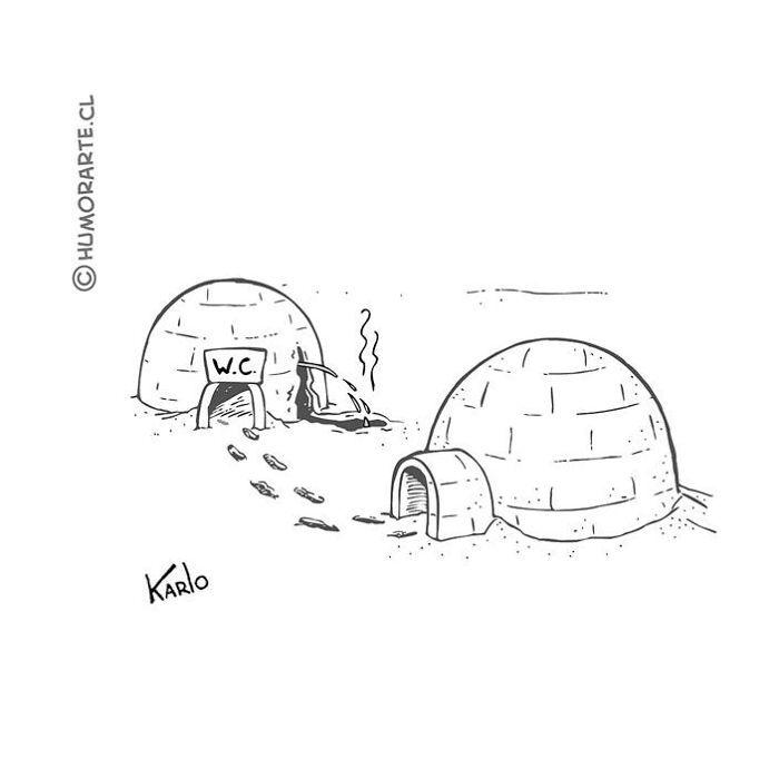 Este artista faz quadrinhos humorísticos sem diálogo (30 fotos) 12