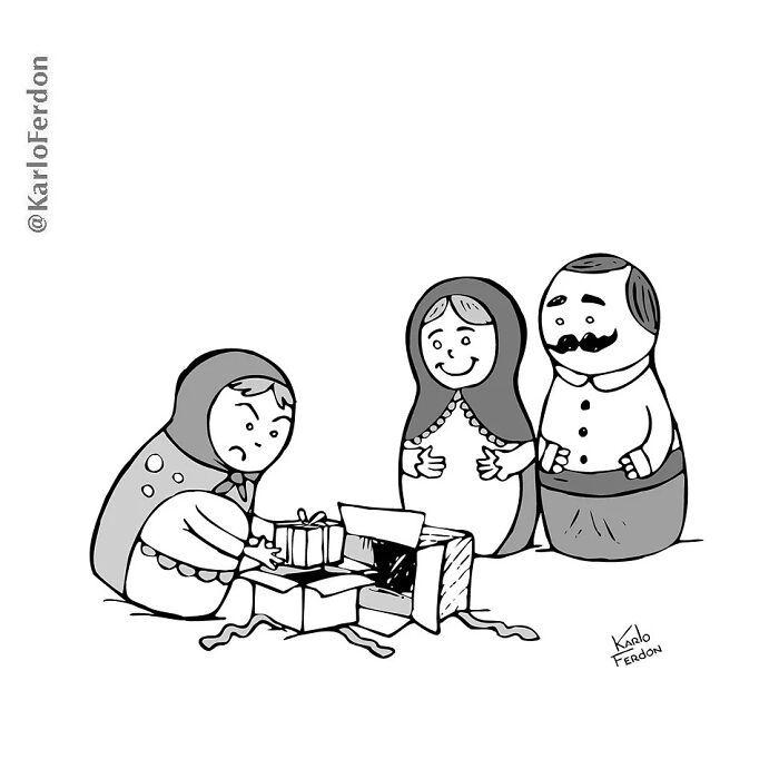 Este artista faz quadrinhos humorísticos sem diálogo (30 fotos) 23