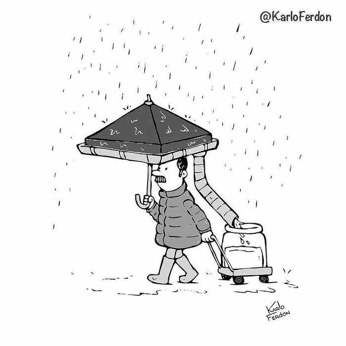 Este artista faz quadrinhos humorísticos sem diálogo (30 fotos) 30