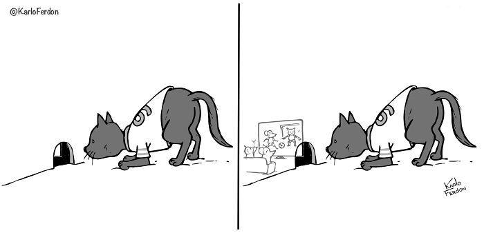 Este artista faz quadrinhos humorísticos sem diálogo (30 fotos) 31
