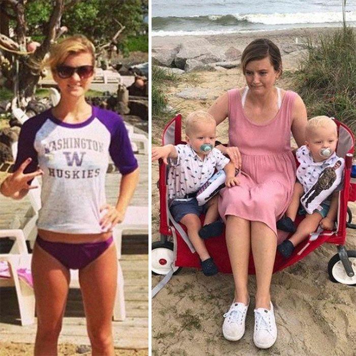 46 fotos hilárias de antes e depois de como a vida muda depois de ter filhos 10