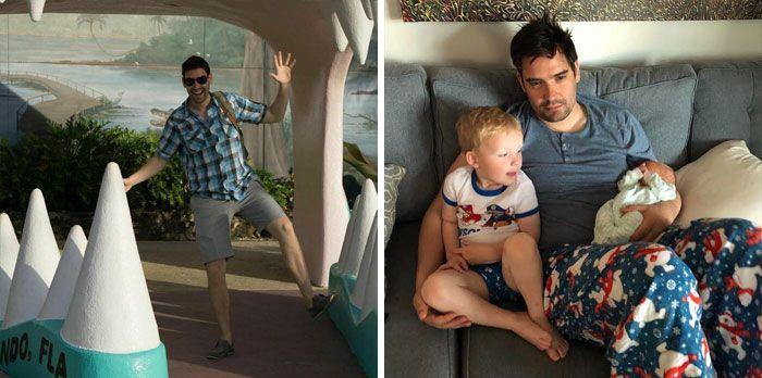 46 fotos hilárias de antes e depois de como a vida muda depois de ter filhos 11