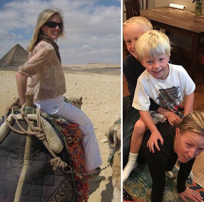 46 fotos hilárias de antes e depois de como a vida muda depois de ter filhos 25