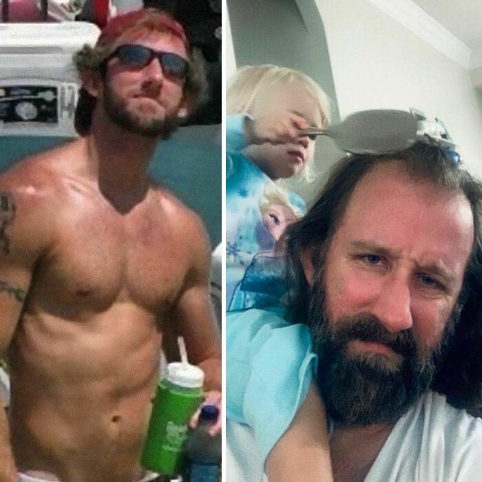 46 fotos hilárias de antes e depois de como a vida muda depois de ter filhos 29