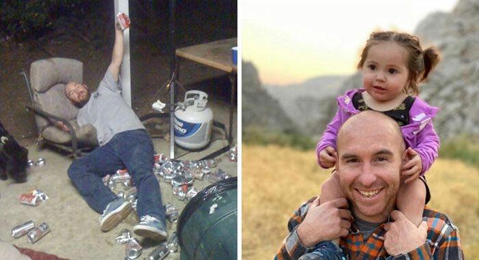 46 fotos hilárias de antes e depois de como a vida muda depois de ter filhos 33