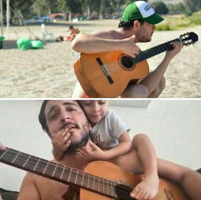 46 fotos hilárias de antes e depois de como a vida muda depois de ter filhos 35