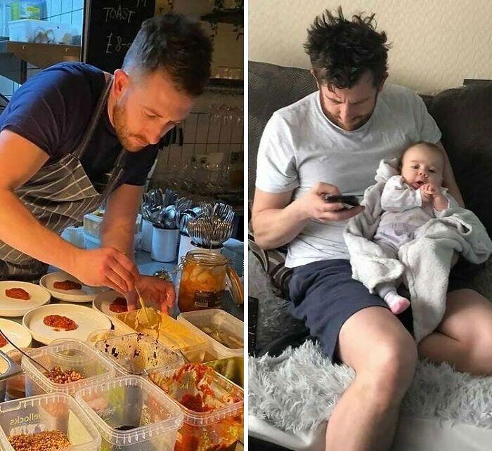 46 fotos hilárias de antes e depois de como a vida muda depois de ter filhos 39