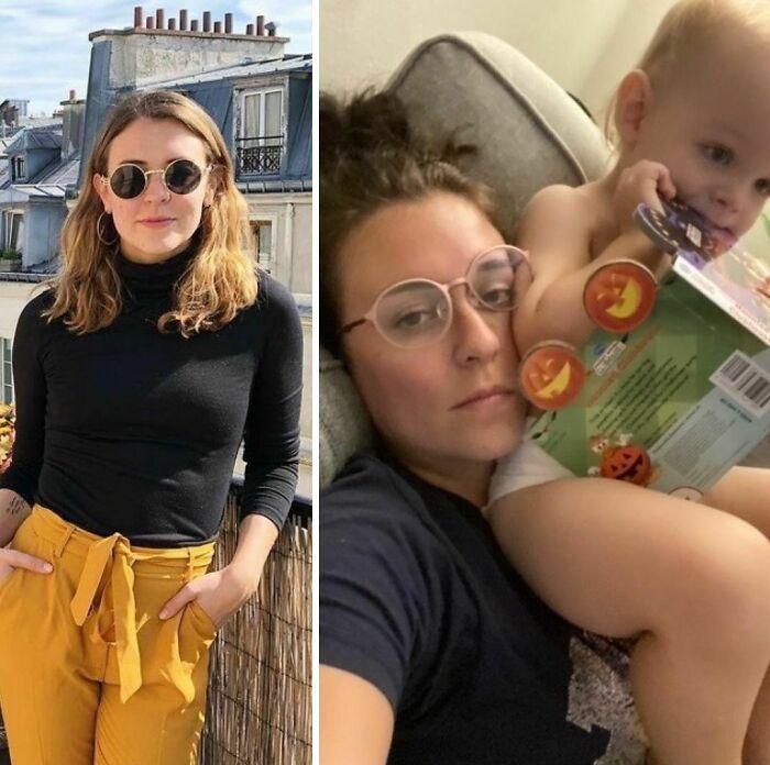 46 fotos hilárias de antes e depois de como a vida muda depois de ter filhos 46