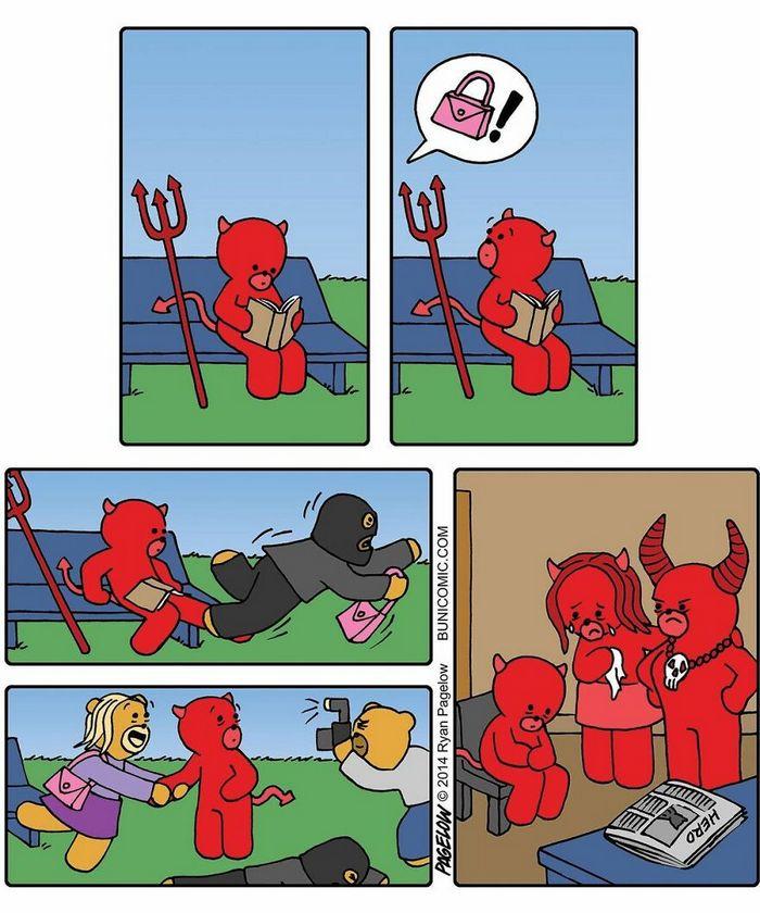 29 histórias em quadrinhos do Buni que são engraçadas, tristes e distorcidas ao mesmo tempo 2