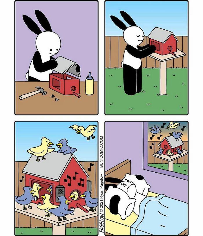 29 histórias em quadrinhos do Buni que são engraçadas, tristes e distorcidas ao mesmo tempo 8