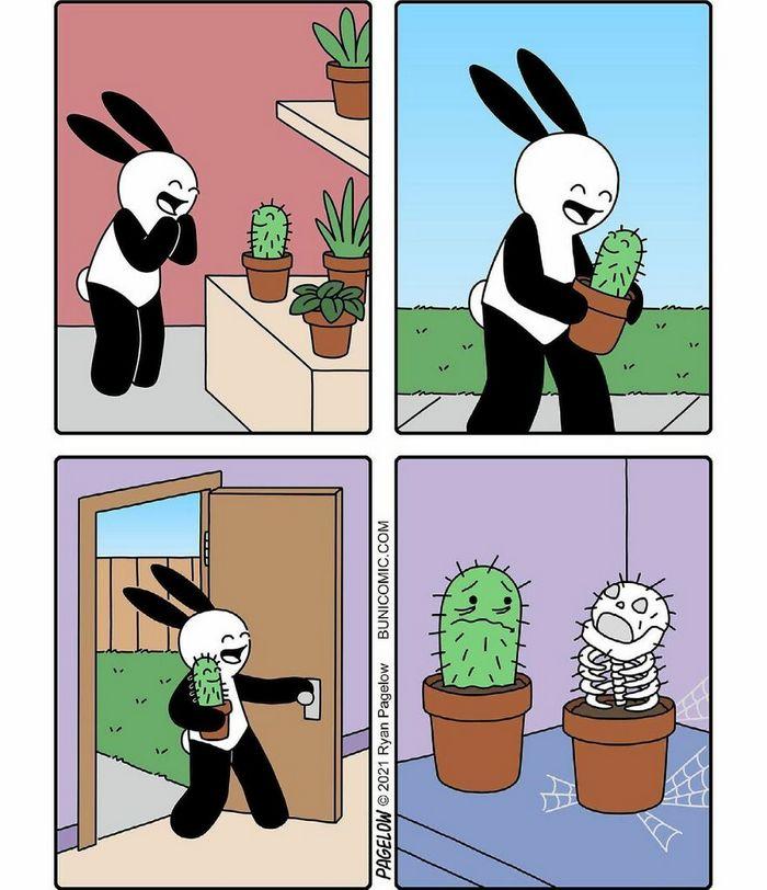 29 histórias em quadrinhos do Buni que são engraçadas, tristes e distorcidas ao mesmo tempo 16