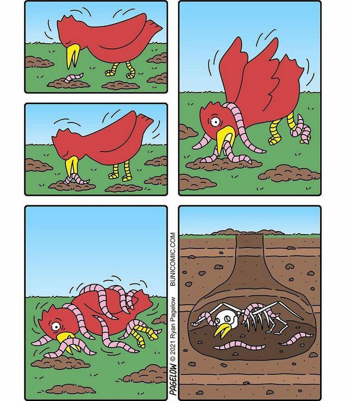 29 histórias em quadrinhos do Buni que são engraçadas, tristes e distorcidas ao mesmo tempo 24