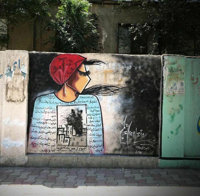 42 obras de arte tocantes da primeira artista de rua feminina do Afeganistão, Shamsia Hassani 4