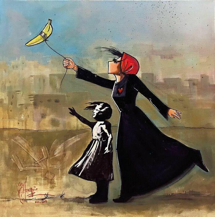 42 obras de arte tocantes da primeira artista de rua feminina do Afeganistão, Shamsia Hassani 5