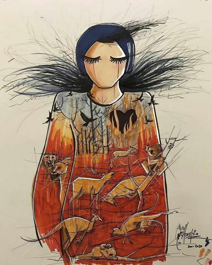 42 obras de arte tocantes da primeira artista de rua feminina do Afeganistão, Shamsia Hassani 6