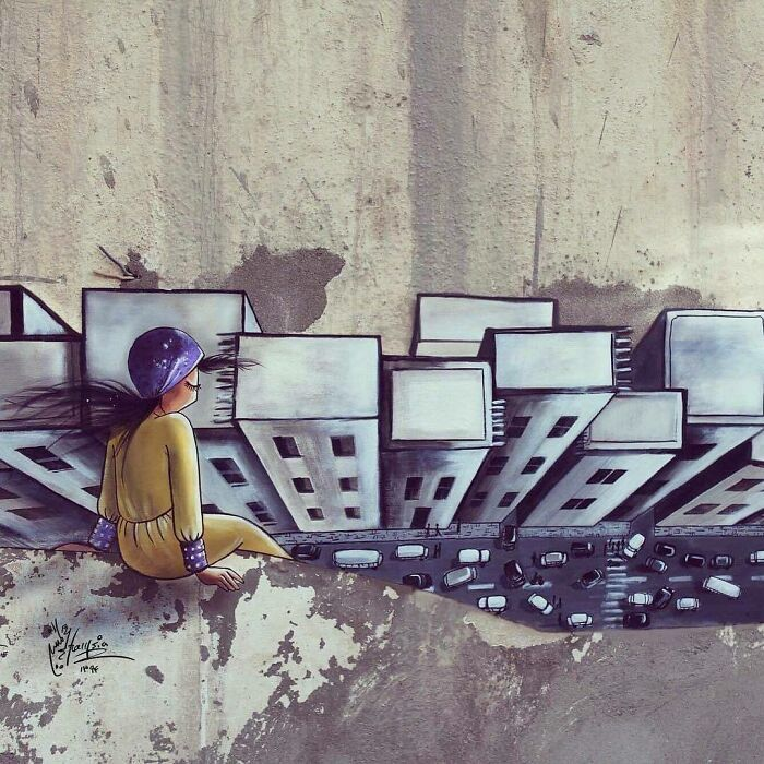 42 obras de arte tocantes da primeira artista de rua feminina do Afeganistão, Shamsia Hassani 12