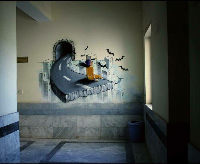 42 obras de arte tocantes da primeira artista de rua feminina do Afeganistão, Shamsia Hassani 14