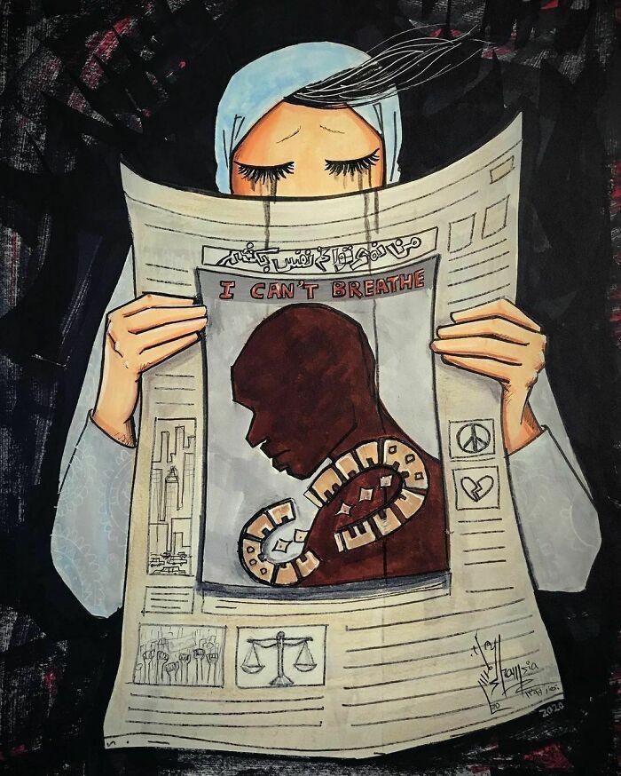 42 obras de arte tocantes da primeira artista de rua feminina do Afeganistão, Shamsia Hassani 16
