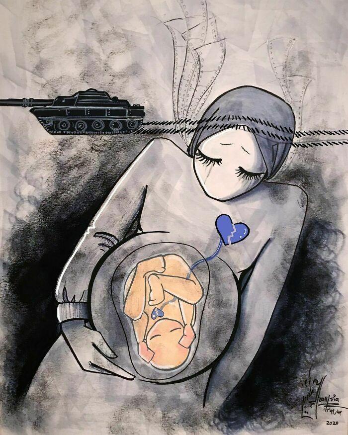 42 obras de arte tocantes da primeira artista de rua feminina do Afeganistão, Shamsia Hassani 17
