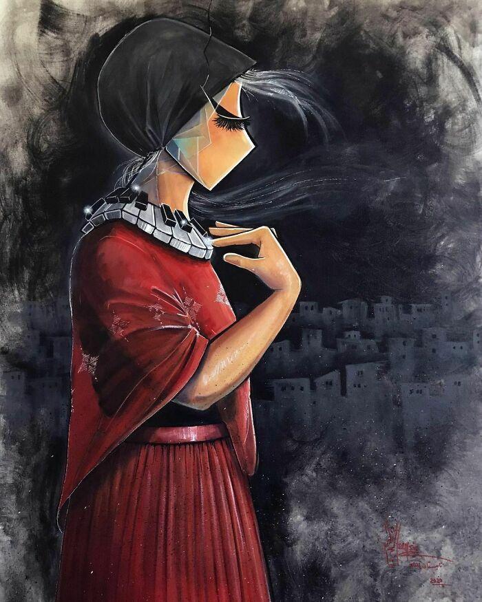 42 obras de arte tocantes da primeira artista de rua feminina do Afeganistão, Shamsia Hassani 18