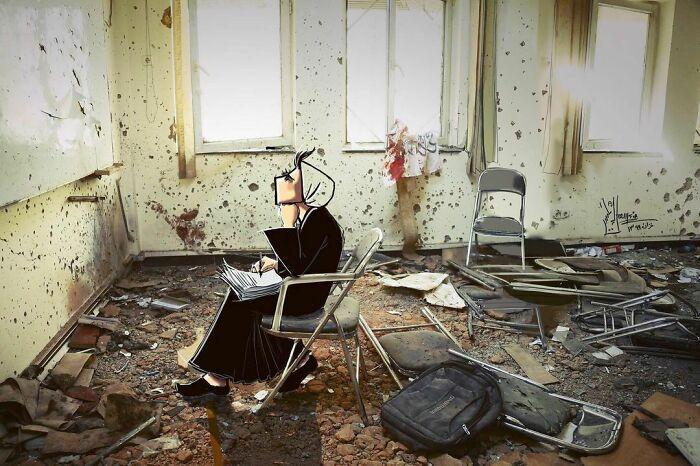 42 obras de arte tocantes da primeira artista de rua feminina do Afeganistão, Shamsia Hassani 22