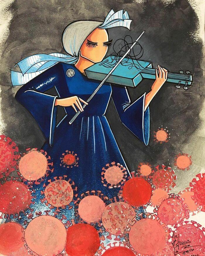 42 obras de arte tocantes da primeira artista de rua feminina do Afeganistão, Shamsia Hassani 24