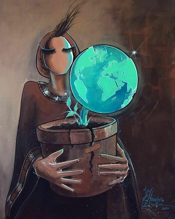 42 obras de arte tocantes da primeira artista de rua feminina do Afeganistão, Shamsia Hassani 26