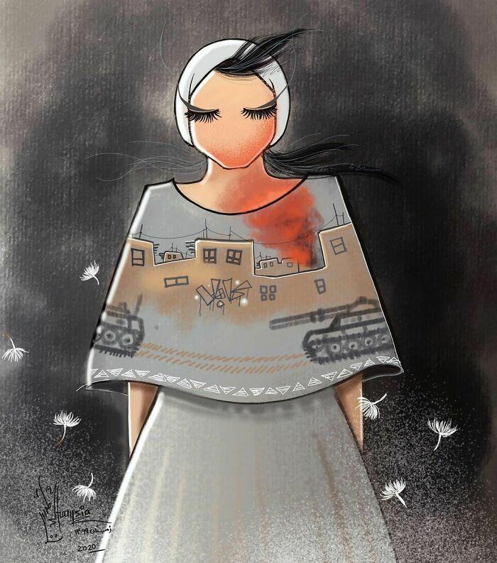 42 obras de arte tocantes da primeira artista de rua feminina do Afeganistão, Shamsia Hassani 27