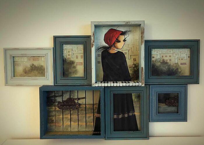 42 obras de arte tocantes da primeira artista de rua feminina do Afeganistão, Shamsia Hassani 30
