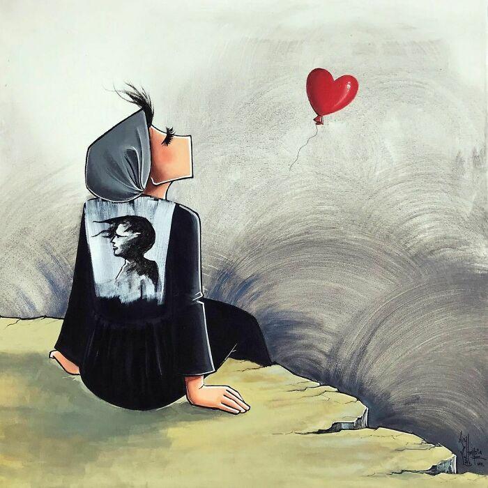 42 obras de arte tocantes da primeira artista de rua feminina do Afeganistão, Shamsia Hassani 35